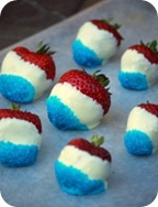 Festive 4th of July or Memorial Day Red White and Blue Strawberries