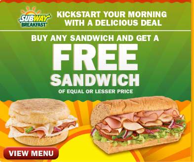 Subway sandwich coupons printable 2019