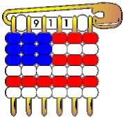 Safety Pin American Flag Pin