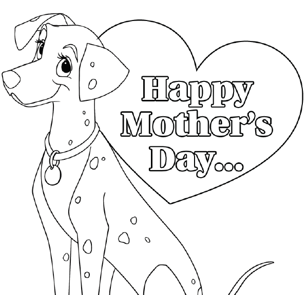 Printable Disney Mother's Day Card