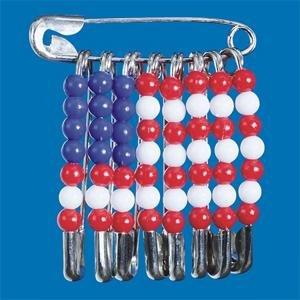 Safety Pin American Flag Pin