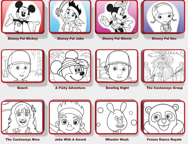 Free Disney Junior Coloring Pages