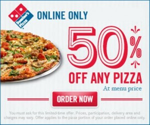 Dominos online delivery coupons