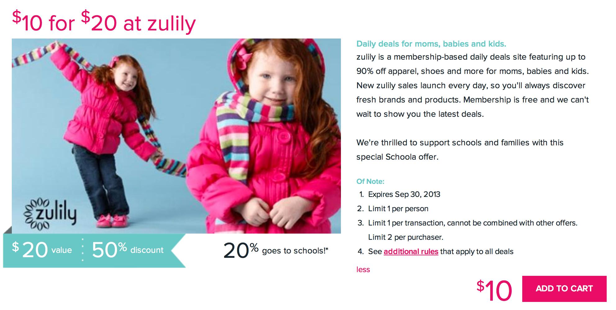 Zulily Discount
