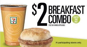 $2 Breakfast Deal at 7-Eleven