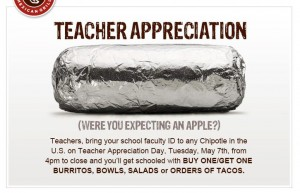 Chipotle-Teacher-Appreciation-Day-B1G1-FREE-Sale-300x193