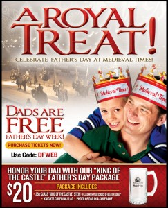 Dads Free Medieval Times