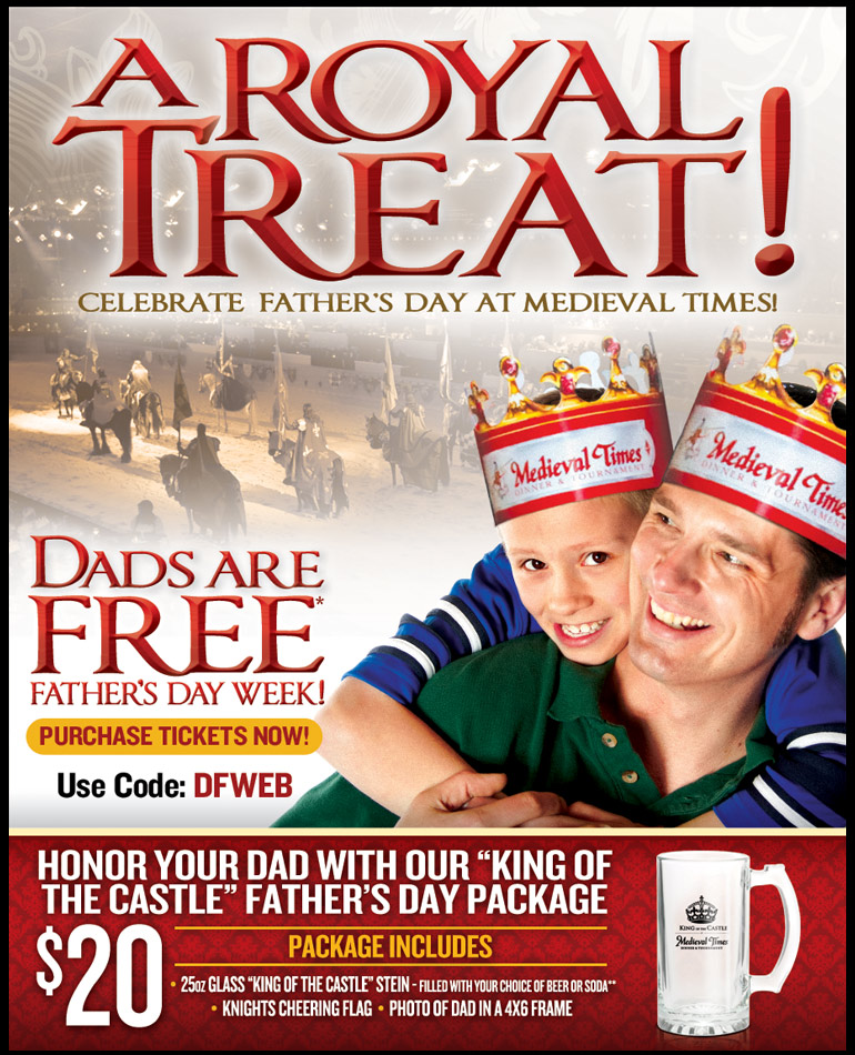 How to use a Medieval Times coupon Currently, there are several promotions where entering coupon codes upon online checkout will result in savings. The fall promotion is running until October 14th. Entering a specified code at checkout entitles you to a free royalty package upgrade featuring VIP seating and other extras.