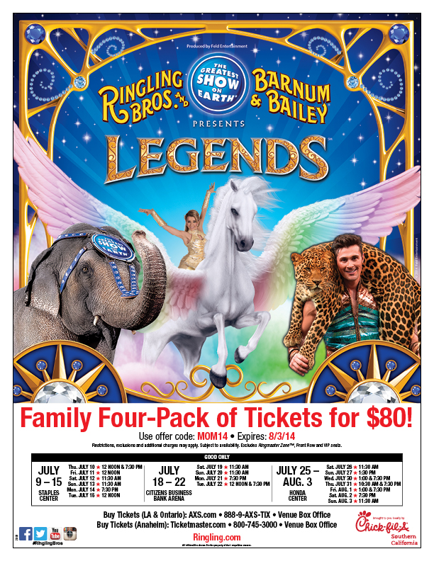 Ringling Bros Legends Tickets Discount Code Deal Icious Mom