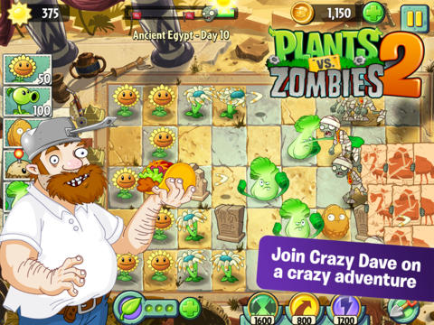 Free App Alert: Plants vs. Zombies 2!