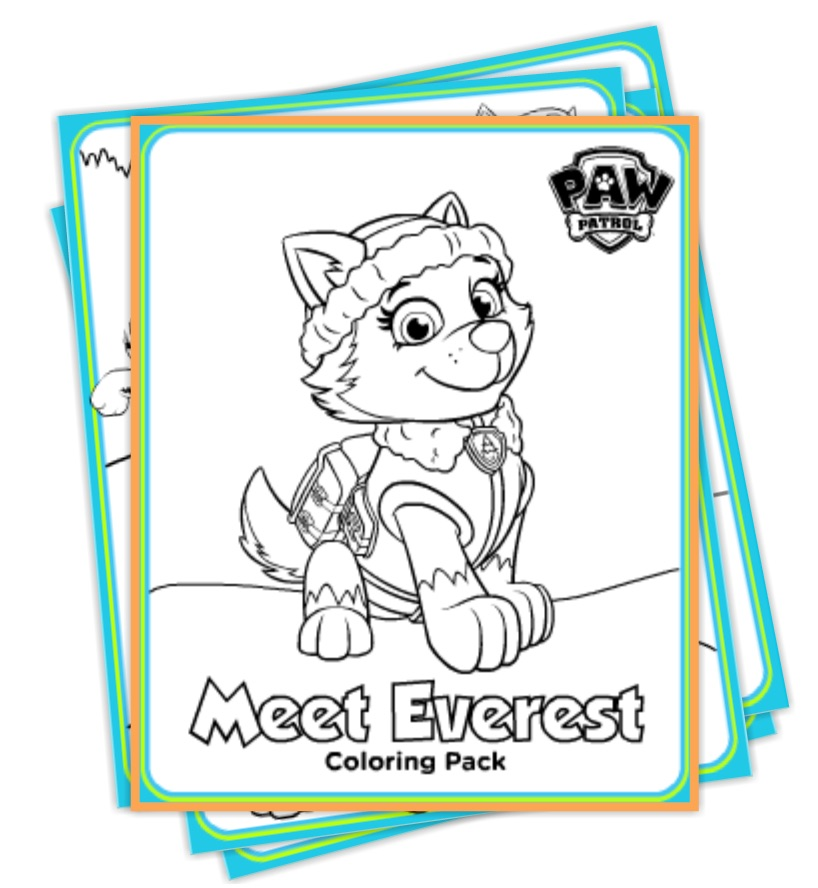 Paw Patrol Everest Coloring Pages quot Deal quot icious Mom