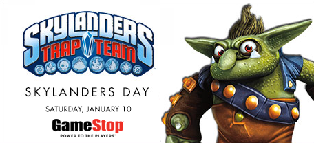 GameStop: Celebrate Skylanders Day  – January 10th – Tons of Savings!
