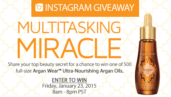 Free Product Giveaway: Physicians Formula Ultra-Nourishing Argan Oil