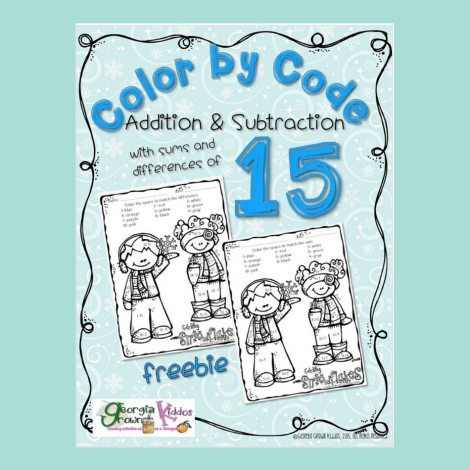 Teacher Resources: FREE Kids Color by Code Addition and Subtraction