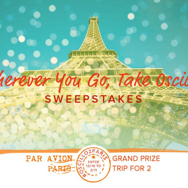 Oscillo – Win a Trip to Paris Sweepstakes