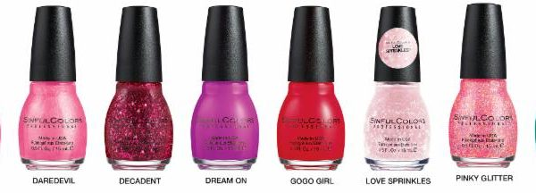 My Must Have: SinfulColors Flirt With Hearts Nail Polish Collection