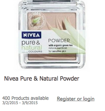 New Toluna Product Testing – Nivea Pure & Natural Powder