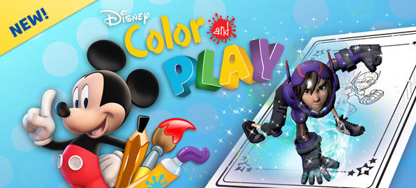 Free Disney Color & Play App and Free coloring page