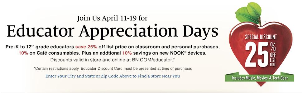 barnes and noble educator appreciation