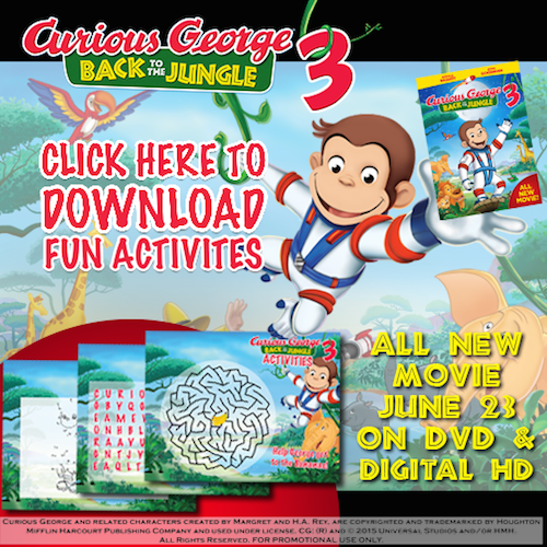 Curious George 3: Back to the Jungle Printable Activity Sheets