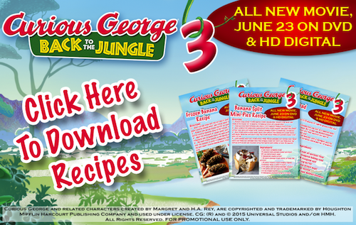 Curious George 3: Back to the Jungle Printable Recipes