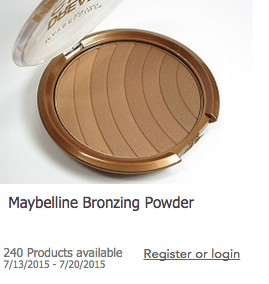 New Testing Product Opp- Maybelline Bronzing Powder