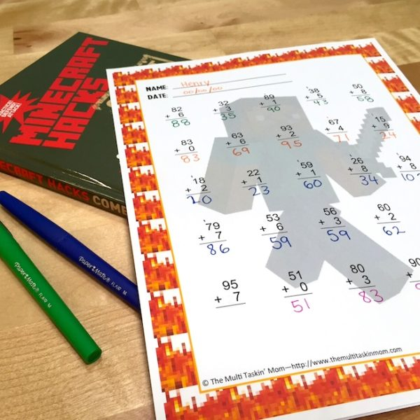 FREE Minecraft-Themed Math Worksheets Your Kids Will Love