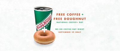 National Coffee & Doughnut Day- Free Coffee & Doughnut at Krispy Kreme