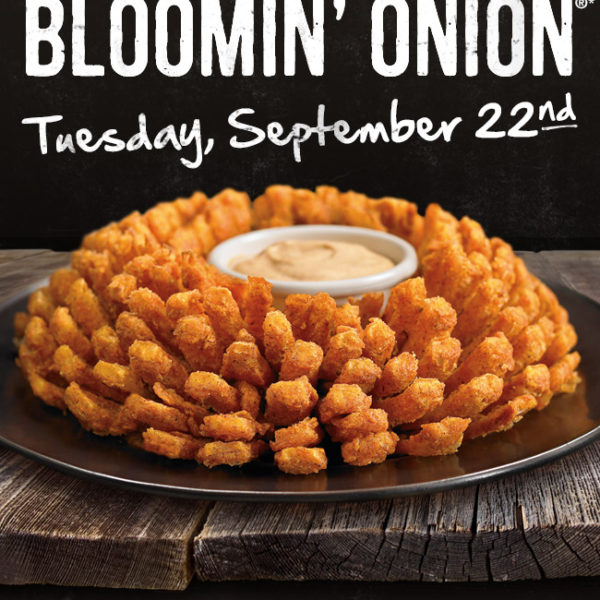Free Blooming Onion 9/22