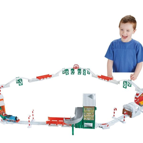 Fisher-Price Thomas the Train TrackMaster Holiday Cargo Delivery Set $50 Off – $39.99