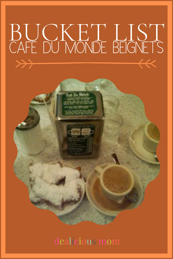 Could this be the year for one of my long-time, sugar fantasies? I'd love to travel to New Orleans and try beignets and coffee at the famed Cafe Du Monde! Add this to your bucket list too! #travel #trip #bucketlist #wanderlust #neworleans #coffee #cafedemondebeignets #beignets