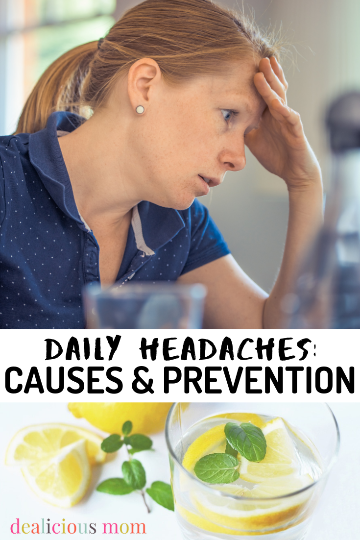 It's really hard to be patient and kind, the mom I want to be….when I have a headache. I've compiled a list of ways that help me prevent daily headaches. If you want to put an end to the pain and grumpiness, read on. #headache #causes #prevention #tips #medicine #remedy #health #healthtips
