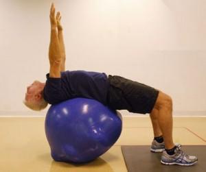 best ball back stretch