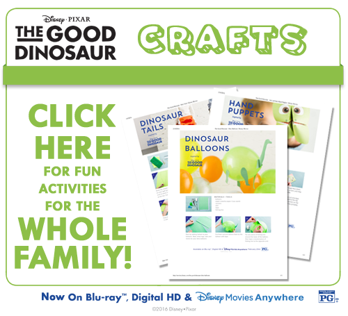 Freebie: Crafts & Activities for Disney-Pixar The Good Dinosaur