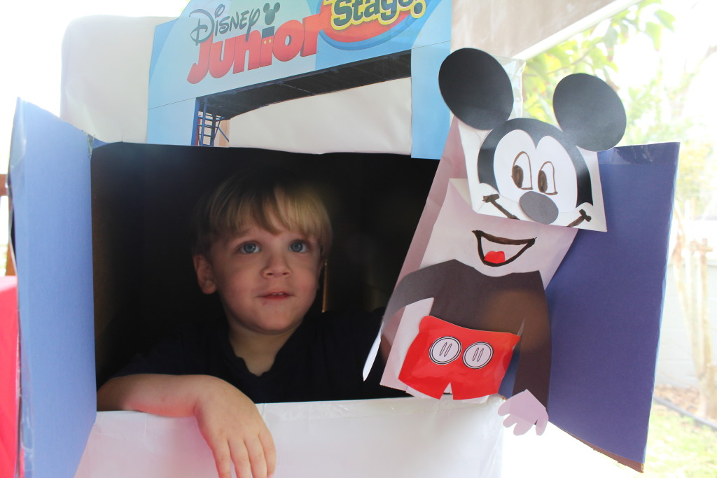 Mickey Mouse puppet theater