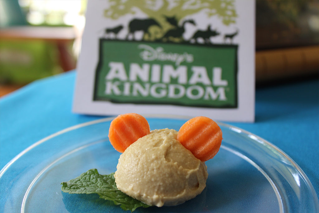Mickey Mouse Ears Hummus and Carrots Snacks