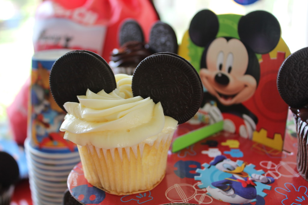 Mickey Mouse Party Idea Cupcake Cookie Ears