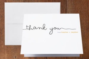 minted-thank you note