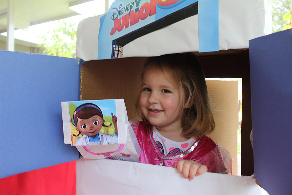 puppet theater and Doc McStuffins puppet