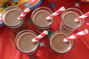 mini chocolate milk