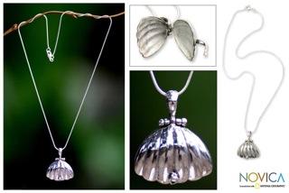Seashell Locket in Sterling Silver