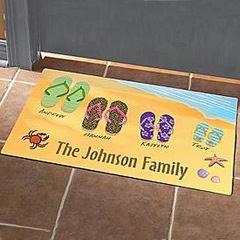 Flip Flop Door Mat with Feet for each Family Member