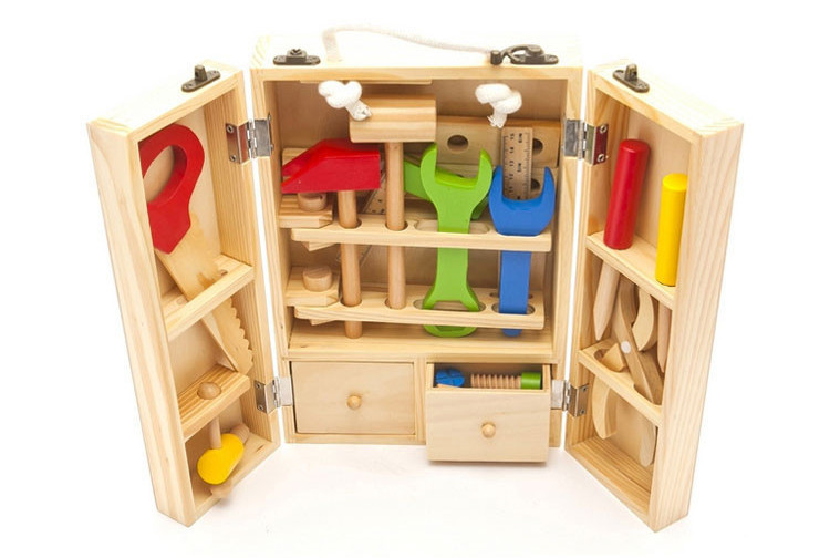 best gift kids age 2 to 4 wooden tool set