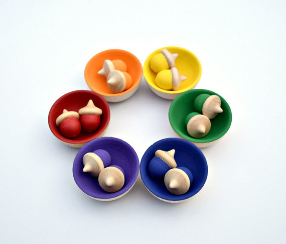 best gift for kids age 2-4 wooden acorn set