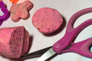 edible play dough sliced
