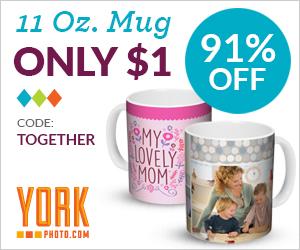 custom photo mug for $1