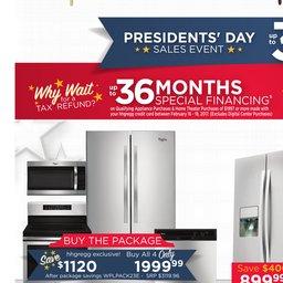 Presidents' Day Deals: Furniture, Appliances & TVs