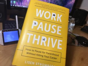Work PAUSE Thrive book with baby monitor