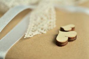 wood heart handmade gift