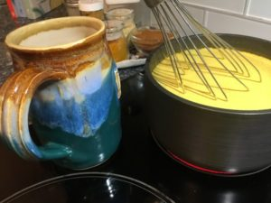 Whisking Golden Milk